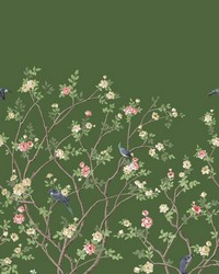 Lingering Garden Mural Green by