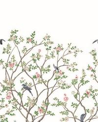 Lingering Garden Mural White by