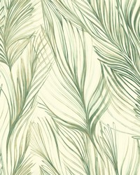 Peaceful Plume Wallpaper Green by