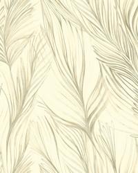 Peaceful Plume Wallpaper Beige by