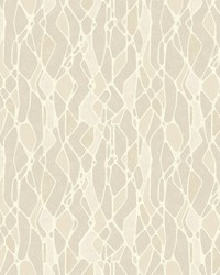 Stained Glass Wallpaper Taupe by