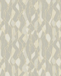 Stained Glass Wallpaper Grey by