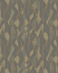 Stained Glass Wallpaper Dark Grey by