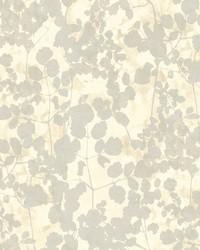 Pressed Leaves Wallpaper Beige by