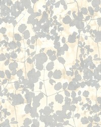 Pressed Leaves Wallpaper Cream by