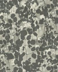 Pressed Leaves Wallpaper Dark Grey by