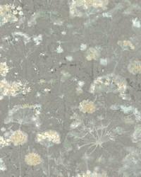 Botanical Fantasy Wallpaper Grey by