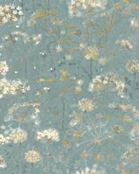 Botanical Fantasy Wallpaper Blue by