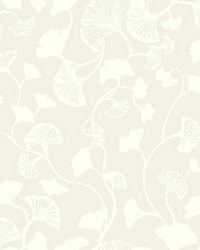 Gingko Trail Wallpaper Cream by
