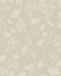 Gingko Trail Wallpaper Tan by