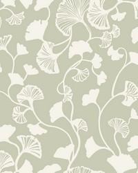 Gingko Trail Wallpaper Green by
