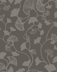 Gingko Trail Wallpaper Black by
