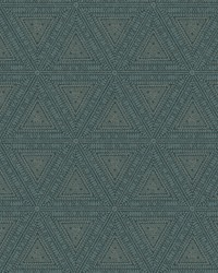 Norse Tribal Wallpaper Blues by
