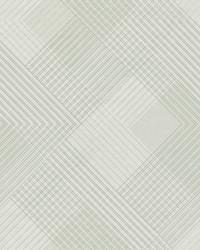 Scandia Plaid Wallpaper White Off Whites by