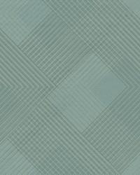 Scandia Plaid Wallpaper Blues by
