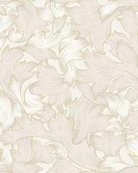 Acanthus Toss Wallpaper Cream by