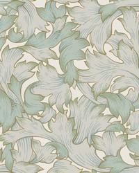 Acanthus Toss Wallpaper Beige Seafoam by