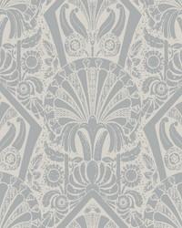 Zelda Wallpaper Cream Silver by