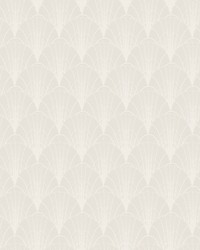 Scalloped Pearls Wallpaper Cream White by