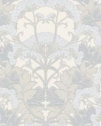 Yarrow Nouveau Wallpaper Gray Cream by