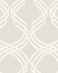 Dante Ribbon Wallpaper Beige White by
