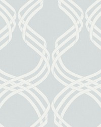 Dante Ribbon Wallpaper Gray White by