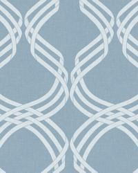 Dante Ribbon Wallpaper Blue White by