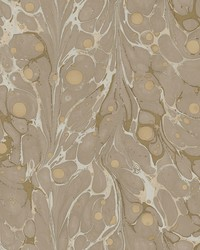 Marbled Endpaper Wallpaper Brown by