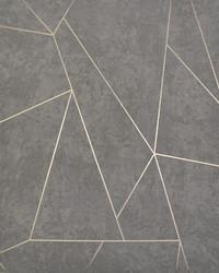 Nazca Wallpaper Dark Grey Gold by