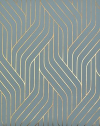 Ebb And Flow Wallpaper Blue Gold by