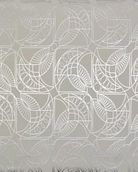 Cartouche Wallpaper White Silver by