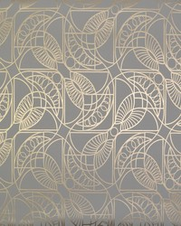 Cartouche Wallpaper Grey Gold by