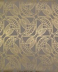Cartouche Wallpaper Khaki Gold by