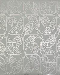 Cartouche Wallpaper Blue Silver by