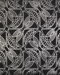 Cartouche Wallpaper Black Silver by
