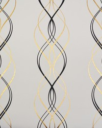 Aurora Wallpaper Black White Gold by