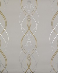 Aurora Wallpaper Gold Pearl Silver by