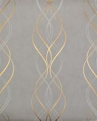 Aurora Wallpaper Grey Gold by