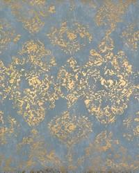 Stargazer Wallpaper Blue Gold by
