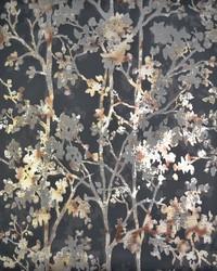 Shimmering Foliage Wallpaper Black Multi by