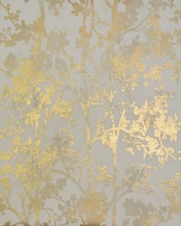 Shimmering Foliage Wallpaper Almond Gold by
