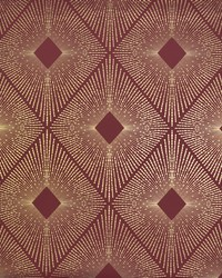 Harlowe Wallpaper Red Gold by