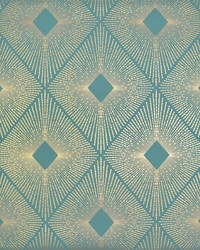 Harlowe Wallpaper Teal Gold by