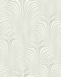 Deco Fountain Wallpaper White by