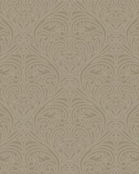Romance Damask Wallpaper Brown by