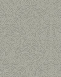 Romance Damask Wallpaper Silver by