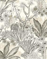 Flowering Desert Wallpaper Gold by