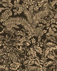 Botanical Sanctuary Wallpaper Black by