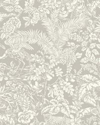 Botanical Sanctuary Wallpaper Grey by