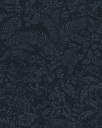 Botanical Sanctuary Wallpaper Midnight by